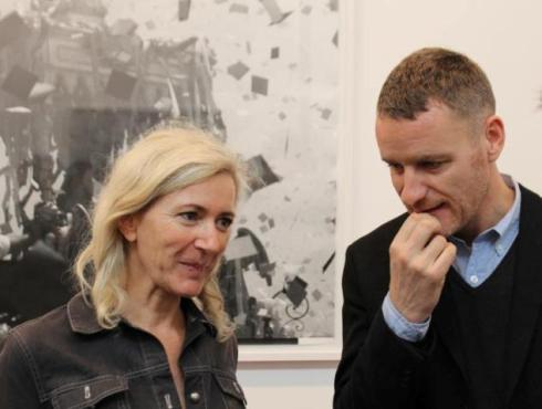 Renate Graf, the work she made and Lorcan O' Neill, photo by Giorgio Miserendino