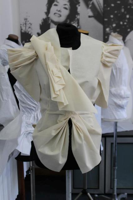 The work by  graduated students of the Costume & Fashion Academy at the Gina Lollobrigida room, photo by Giorgio Miserendino