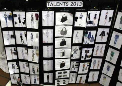 The sketches of items featuring in Talents 2013, photo by Giorgio Miserendino