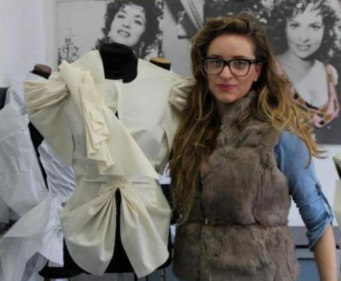 The work by  a graduated student of the Costume & Fashion Academy at the Gina Lollobrigida room, photo by Giorgio Miserendino