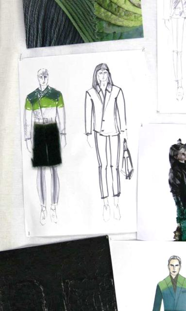 The work by the graduated students of  Rome Fashion & Costume Academy, photo by Giorgio Miserendino