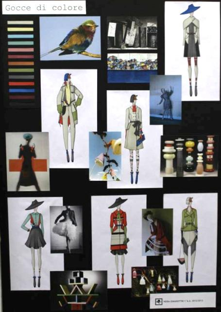 The work by  graduated students of the Costume & Fashion Academy, photo by Giorgio Miserendino