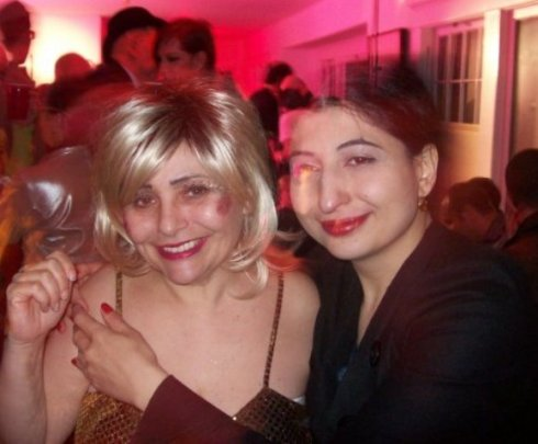 "A joyful memory, Penny Arcade & me during the after-party of ""Weimar New York"""