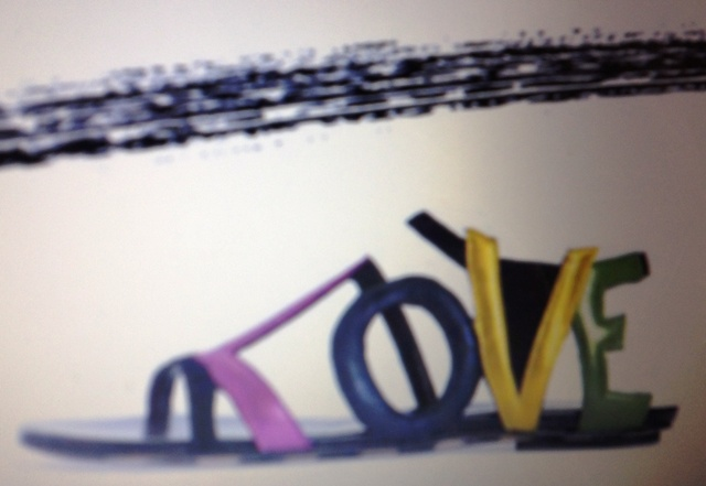Love, the main inspiration of Georgina Goodman and a shoe, featuring in the Spring/Summer 2010 collection she made