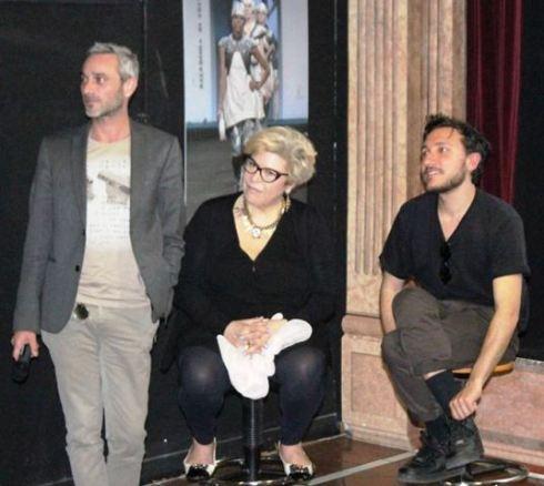 Olivier Di Gianni along with Daniela Fedi and Marco De Vincenzo, photo by Giorgio Miserendino