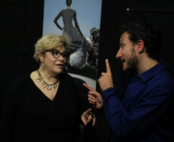 Talking about fashion also after the talk: Daniela Fedi and Marco De Vincenzo, photo by Giorgio Miserendino