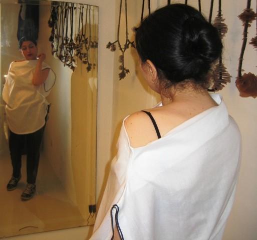 Me in Myriam B, at the Aspecific atelier of Myriam B., photo by Myriam B.