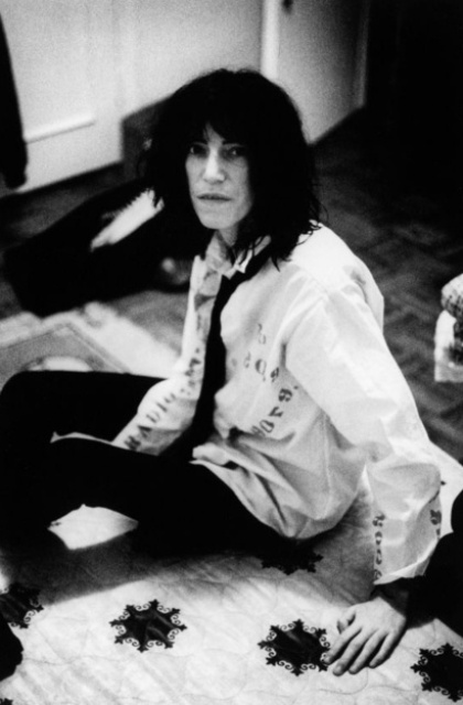 Patti Smith, photo by Caroline Coon, photo courtesy of Met Musueum