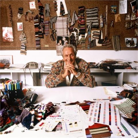 Ottavio Missoni 1990, photo by Giuseppe Pino, courtesy of Vogue.it