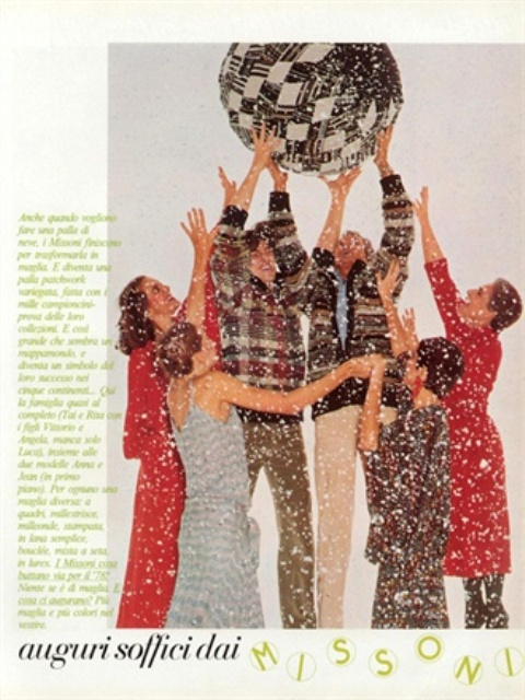 Ottavio Missoni, Vogue Italia December 1977, photo courtesy of Vogue.it