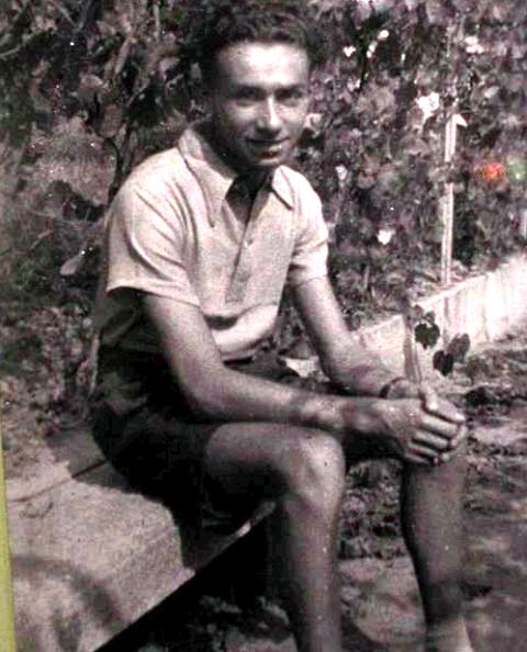 Primo Levi in the house of the maternal family( Luzzati family)