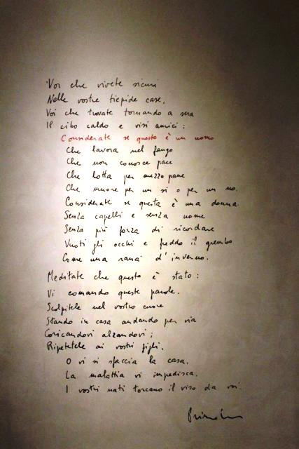 "The touching monologue ""If this a man"" wrote by Primo Levi, photo by Giorgio Miserendino"