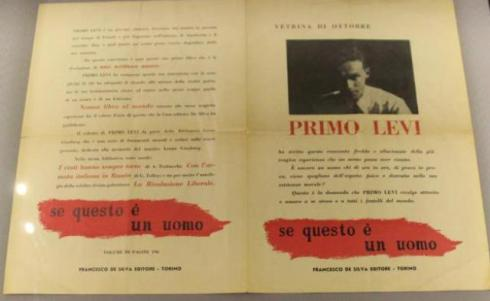 "The book if this is a man- The truce"" by Primo Levi, photo by Giorgio Miserendino"