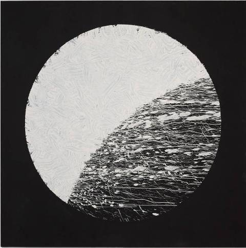 Untitled, Richard Long, mud and paint on canvas, 2013