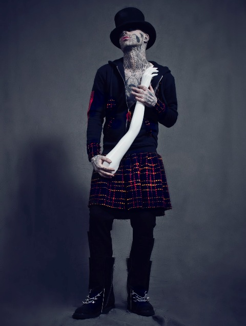 Rick Genest for Tumbler & Tipsy Fall 2013