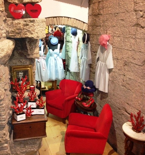 Margherita's boutique hosting the creations by Vivetta