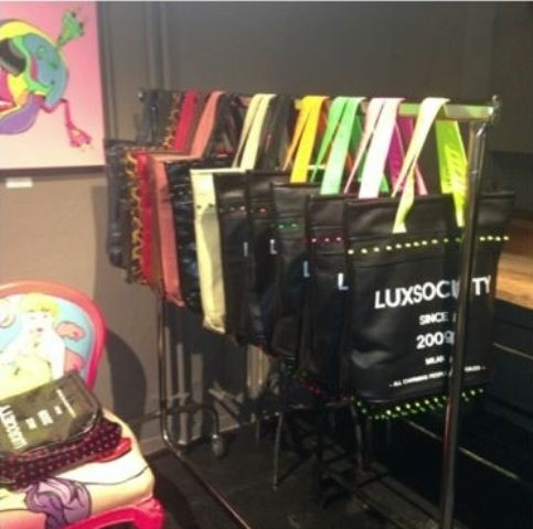 The artworks and furniture by Andy and the shopping bags by Lux Society