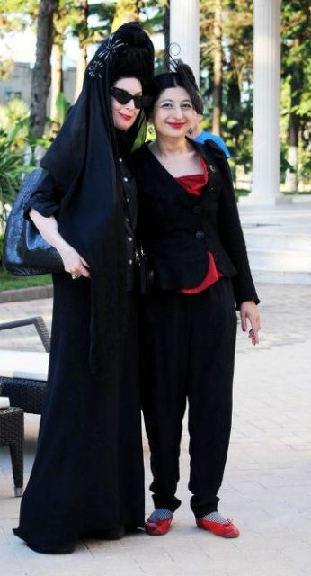 A memory from 2012: Diane Pernet and me during Be Next