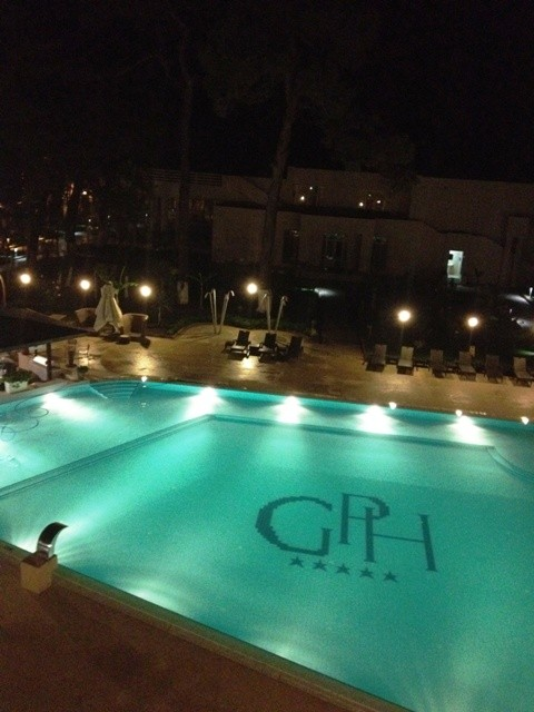 A memory from 2012: Georgia Palace Hotel by night