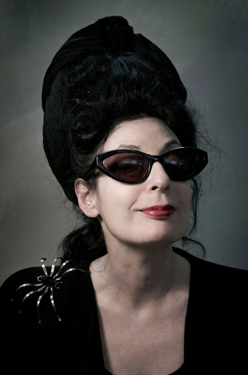 Diane Pernet wearing the  incredible creatures by Mario Saalvucci