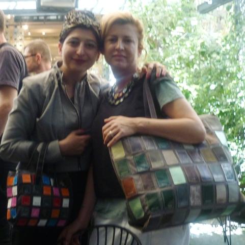 A joyful memory, a Milanese Summer afternoon featuring me and Ilaria Venturini Fendi