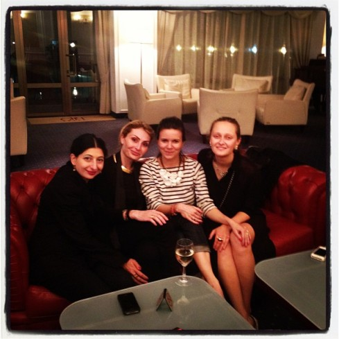 A memory from 2012: me, Sofia Tchkonia, Natalya Turovnikova and Daria Shapovalova at the Georgia Palace Hotel