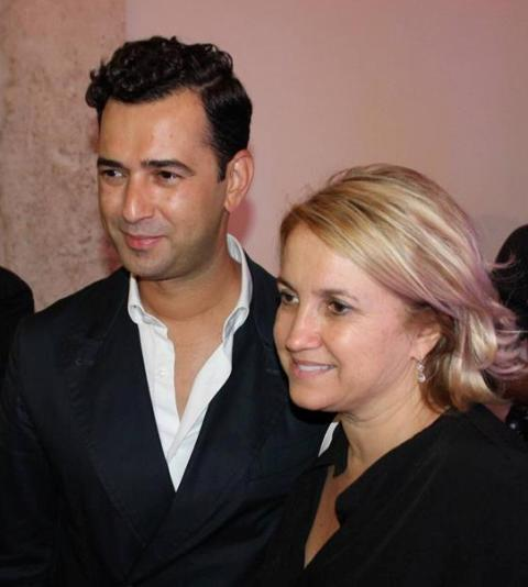 Angelos Bratis and Silvia Venturini Fendi, photo by Giorgio Miserendino