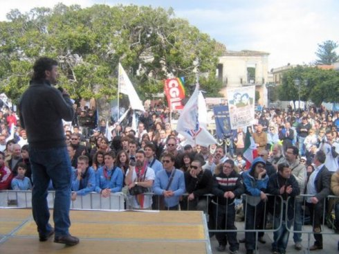 The Locri Alliance march to release Calabria from precariousness and fight against mafia