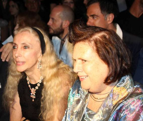 Franca Sozzani and Suzy Menkes, photo by Giorgio Miserendino