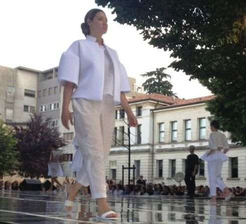 The Iuav Fashion show at the Treviso elementary school Edmondo de Amicis