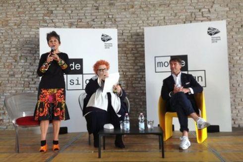 Maria Luisa Frisa, Giusi Ferrè and Brunello Cucinelli