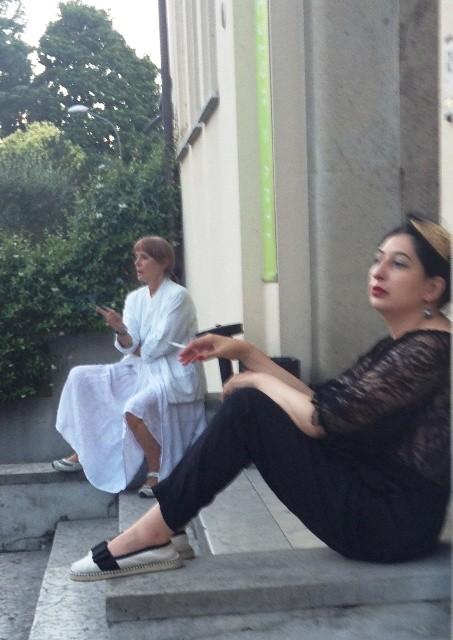 A sunset interlude at Iuav featuring Valeria Regazzoni and me