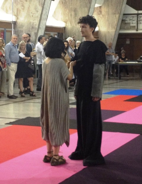The Iuav MA fashion show, a fashion performance curated by Kinkaleri