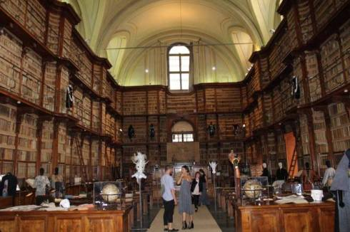 A.I. at the Rome Biblioteca Angelica, photo by Giorgio Miserendino