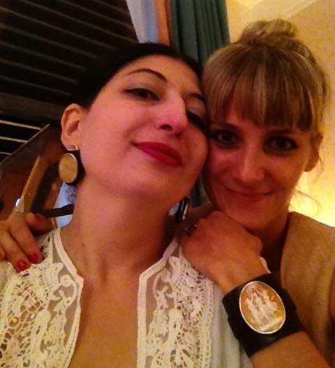 Anna Porcu, me and the smashing jewels she made