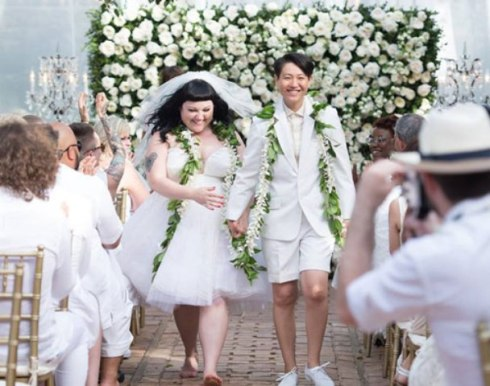 Beth Ditto and Kristin Ogata, photo courtesy of Huffington post