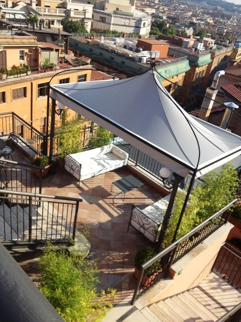 The roof of Flora Baglioni Hotel