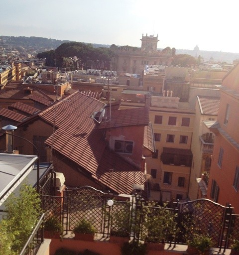 Rome seen from the roof of Flora Baglioni Hotel
