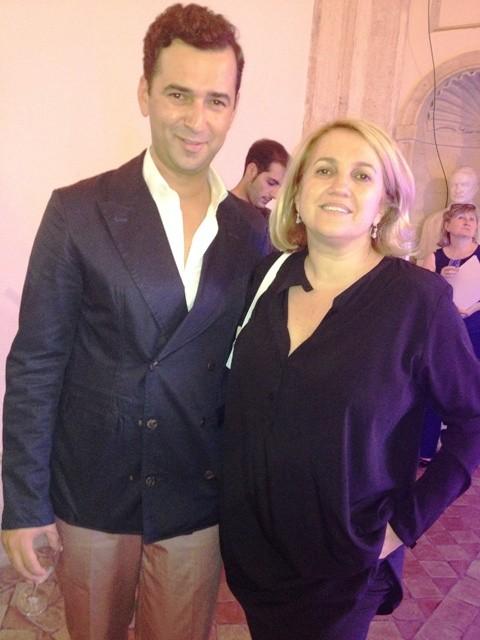 Angelos Bratis and Silvia Venturini Fendi