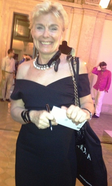 The shining journalist Michela Zio