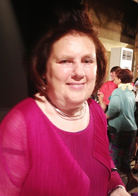 Suzy  Menkes at the backstage of fashion show