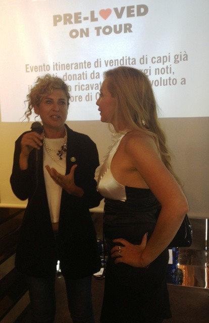 Ilaria Venturini Fendi who talks about her experience as ethical fashion designer with a journalist