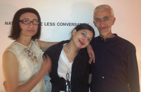 Myriam B, me and Mario Salvucci