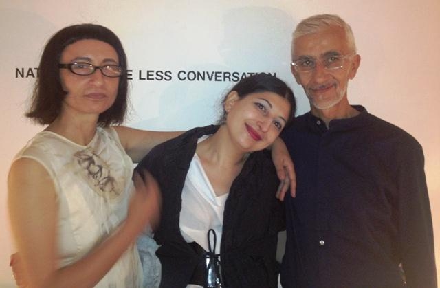 Myriam B, me and Mario Salvucci