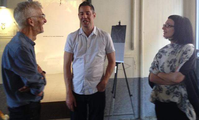 Mario Salvucci, my friend and Shaded Viewer Glenn Belverio and Myriam B