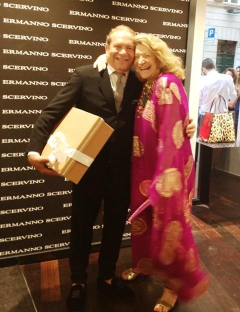 Ermanno Scervino and Marta Marzotto