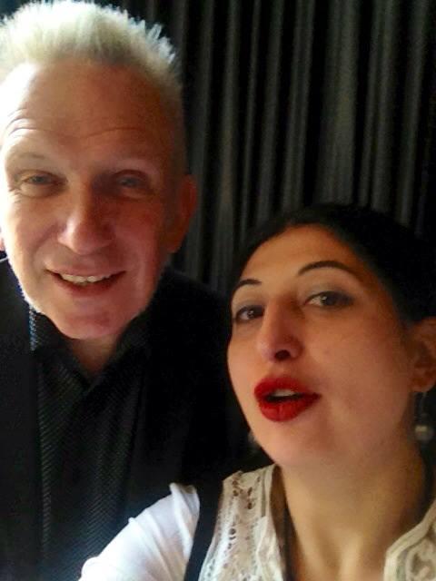 Jean Paul Gaultier & me, photo by N