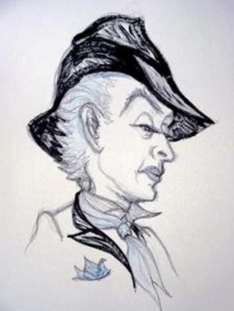 Serl-portrait by Quentin Crisp, courtesy of Quentin Crisp archives