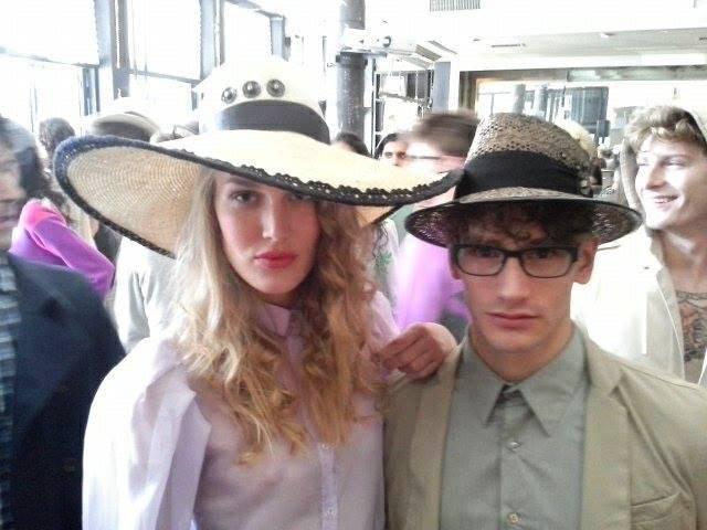 Sergio Davila Spring/Summer 2014, hats by La  China Loca