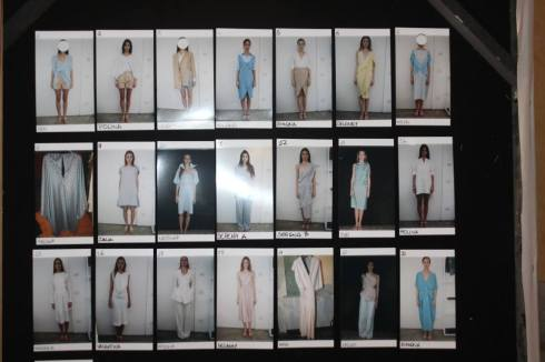 The backstage of Angelos Bratis' fashion show, photo by Giorgio Miserendino